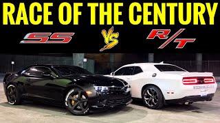 CAMARO SS 6.2L vs Dodge Challenger RT 5.7L | STREET RACE!