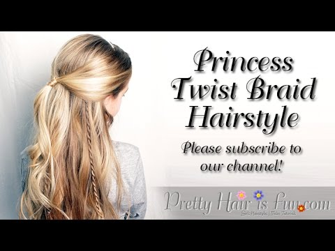 Prom Hairstyle: Princess Twist Braid Hairstyle | Pretty Hair is Fun