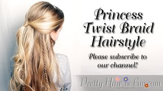 Princess Aurora Twisted Hairstyle From Disney S Maleficient L