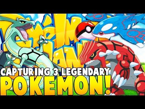 CATCHING GROUDON AND KYOGRE (GEN 3 LEGENDARIES)  - Minecraft Pixelmon Island - Pokemon Mod