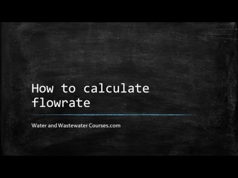 How to calculate flowrate