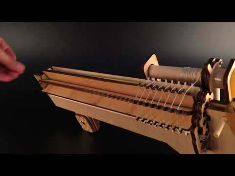 Wooden Rubber Band Machine Gun by UncommonCarry