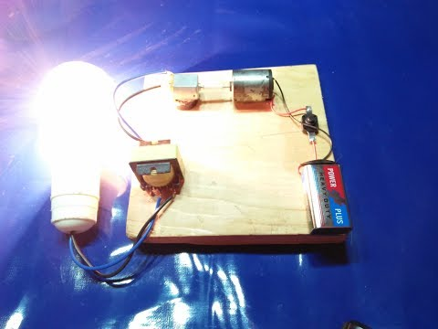 make a inverter with motor and 9v battery not free energy