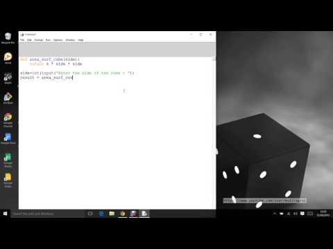Python Programming   Surface area of cube