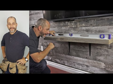 How To Mount A Rustic Pine Shelf In Under 8 Minutes.