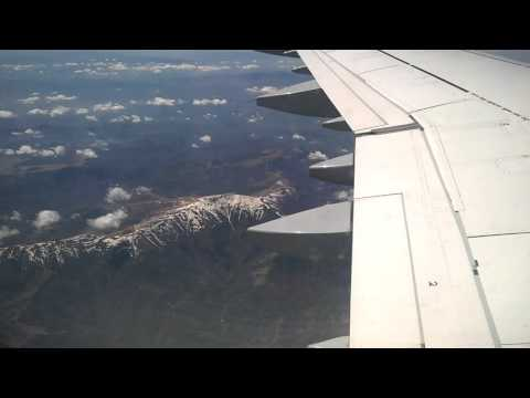 Flying over the mountains in Bulgaria