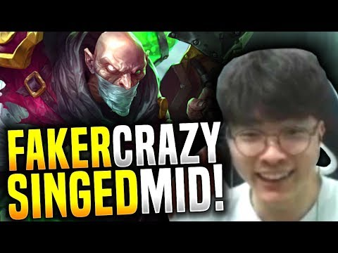 Faker with the Craziest Singed Mid Game! - SKT T1 Faker Picks Singed Mid! | SKT T1 Replays