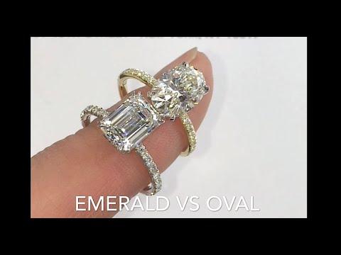 Comparing Emerald Cut  VS Oval Diamond Rings