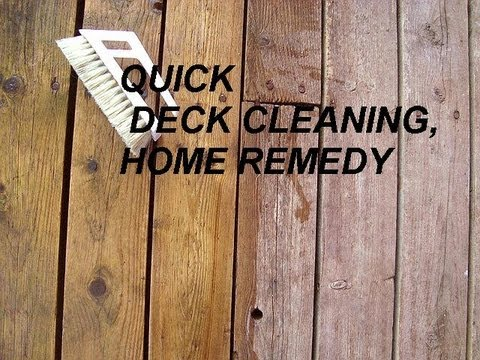 Deck cleaner, household remedy, chlorine bleach