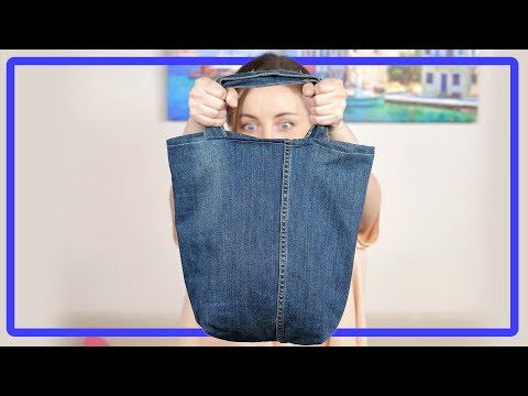 How to create a stylish bag out of old jeans. Beauty secrets. Tips and Tricks