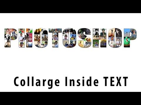 How to create Text Collage in Photoshop