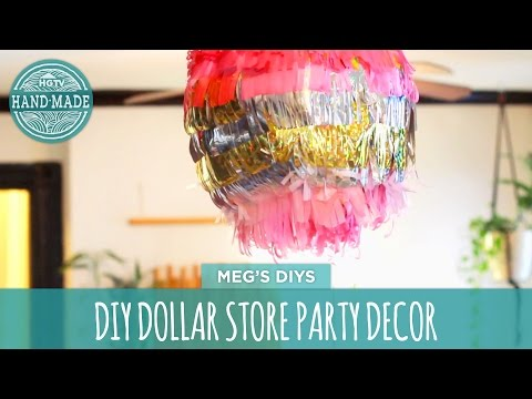DIY Beach Ball Piñata - Dollar Store Challenge - HGTV Handmade