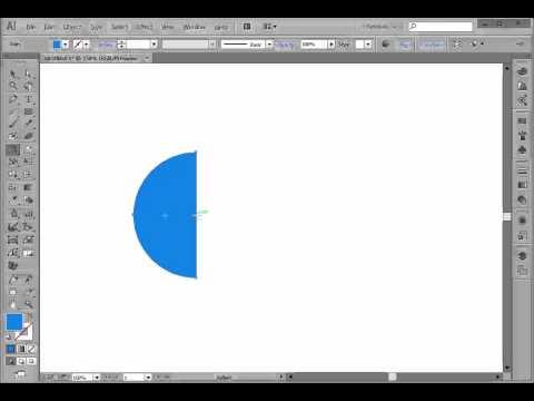 Using Illustrator's Reflect tool