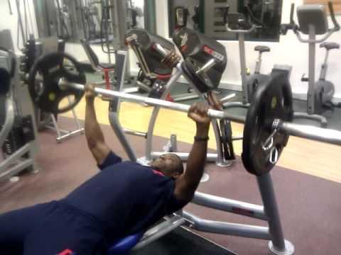 Muscular endurance bench press