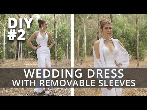 Sewing Wedding Dress with Removable Sleeves. Part 2