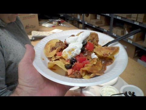MRE Nachos?   Kind of.... MRE Beef Taco Entree, Pinto Beans side dish.