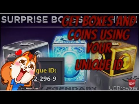 Free boxes and coins using unique id (NO LINKS) check my new video for the trick