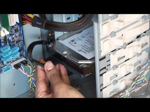 Build Your Own PC: Step 5 - How to install a SATA Hard Drive
