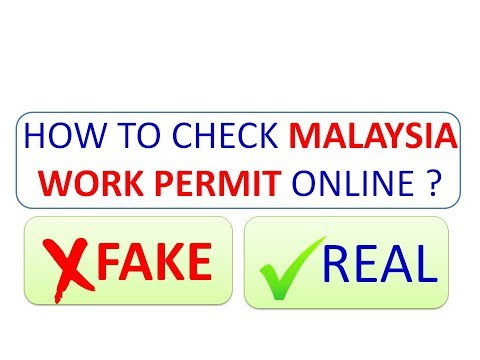 HOW TO CHECK MALASYIA WORK PERMIT ONLINE