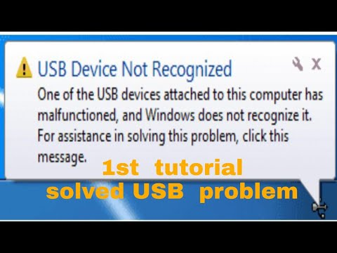 USB ports not working or not recognized windows 7/8/10 easy way solve problem 12/15/2017