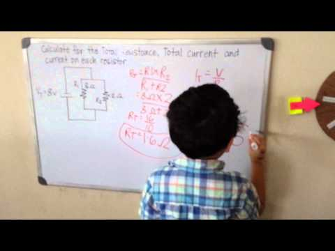 Total Resistance and Current on a Parallel Circuit