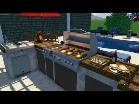 3D Design by The OutDoor Kitchen Design Store!