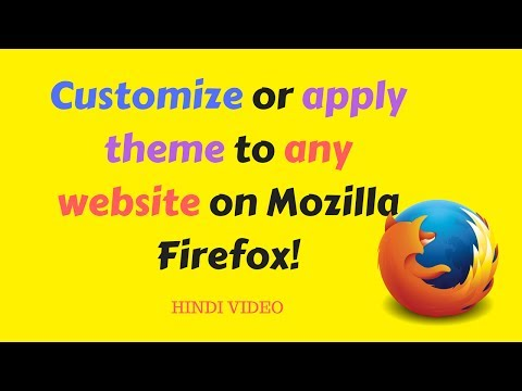 How to customize or apply theme to any website on Mozilla Firefox with extension