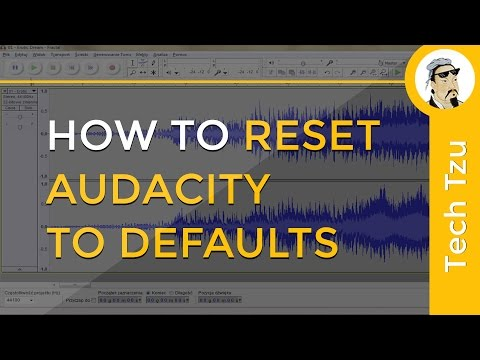 How to Reset Audacity to Defaults