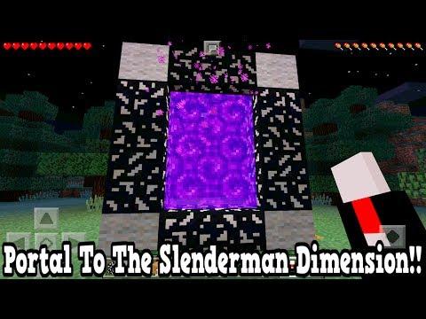 Minecraft Pe - Portal To The Slenderman Dimension - Mcpe Portal To The Slenderman!!!