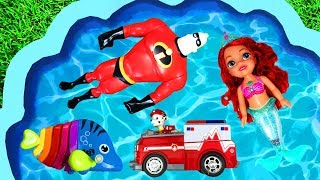 Learning Characters with Super Heroes, Paw Patrol, The Incredibles, Barbie and Ariel for Toddlers