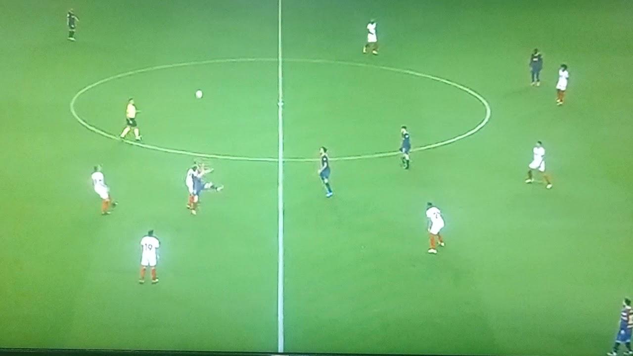 busquets incredible volley pass to messi vs sevilla