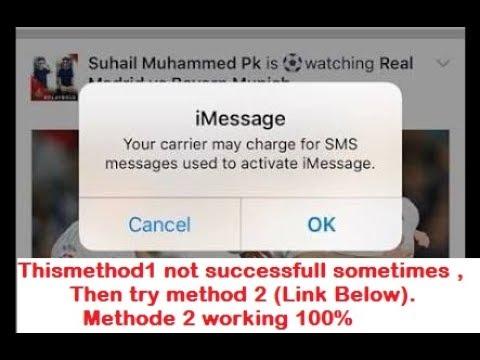 STOP iOS  iMessage NOTIFICATION PROBLEM TRICK ( Method-1)
