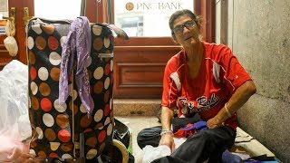 Genevieve is a homeless grandmother sleeping on the streets of Philadelphia.