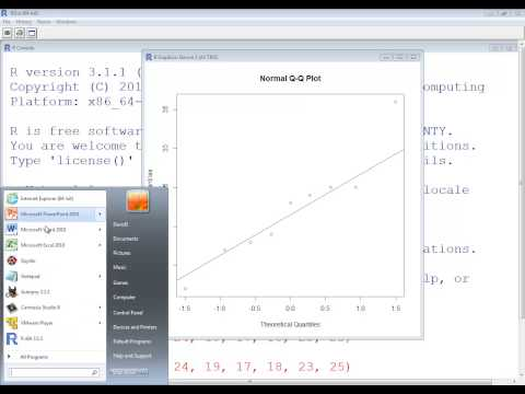 R Language 3.1 - Normal Distributions - Normal Probability Plot