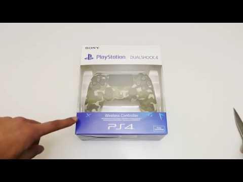 Green Camo Dualshock 4 V2 PS4 Controller Unboxing