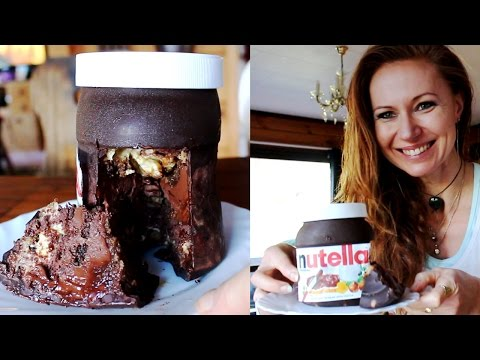 Chocolate Nutella Bottle Shaped Cake - Creamy Surprise Without Baking
