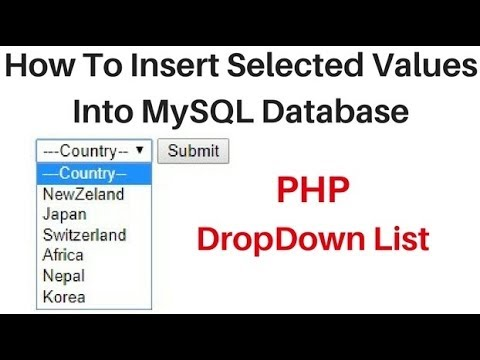 PHP Insert Selected DropDown Value MySQL phpMyAdmin Remote Database