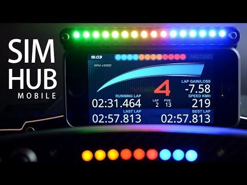 SIM HUB MOBILE DISPLAY   HOW TO SETUP