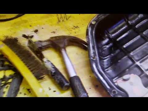 Channel replace oil pan gasket Nissan 1995 pickup