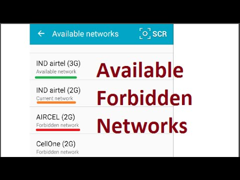 Search for Available/ Forbidden 2G/ 3G mobile networks (Search & Register Networks manually)