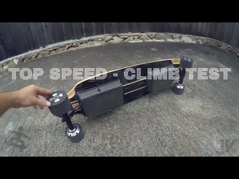 $550 Diy AWD Electric Skateboard - Speed and Hill Climbing Test