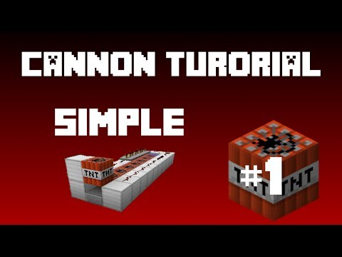 Minecraft - TNT Cannon (Tutorial) Simple and Powerful!