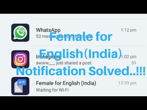 Fix or Remove Female for English Notification from Redmi