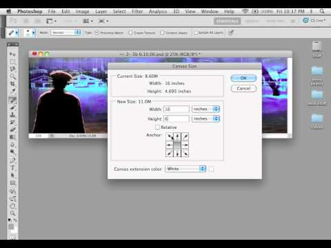 How to Change Canvas Size an Image in Adobe Photoshop