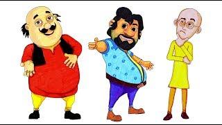 Motu Patlu Drawing Compilation | How to draw Motu Patlu and John in Simple steps
