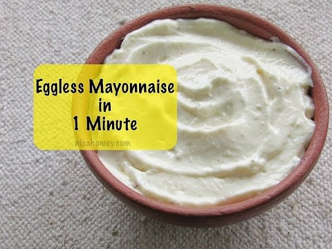 How To Make Eggless Mayonnaise In 1 Minute -Homemade Mayonnaise With An Immersion Blender|Nisa Homey