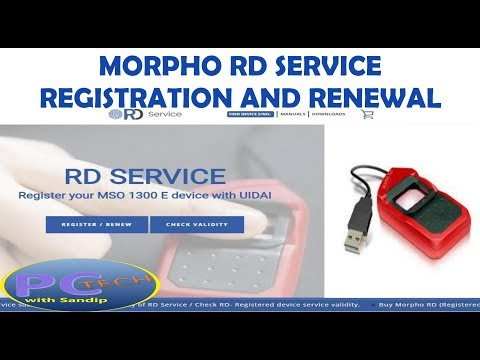 MORPHO RD SERVICE REGISTRATION AND RENEWAL IN BANGALI