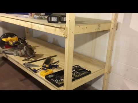 2x4 Storage Shelf - Plywood Shelves