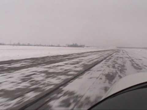 Icy Landings @ Delaware Airport 1-10-2010