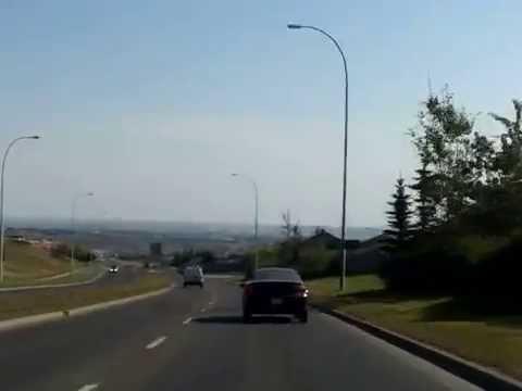 Alberta Drivelapse: Cochrane to YYC Calgary Airport, via Route 1A